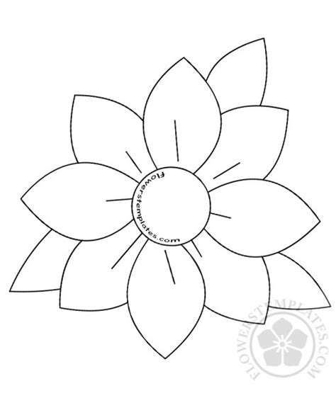 pics for gt flower template printable rose daisy archives flowers templates