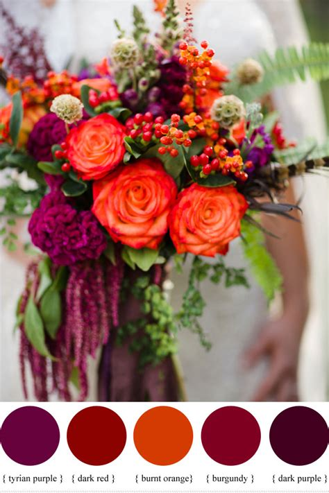 Flower For Wedding by Hypericum Berry Wedding Flowers For Autumn Wedding