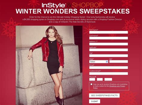 Instyle Sweepstakes - instyle and shopbop winter wonders sweepstakes