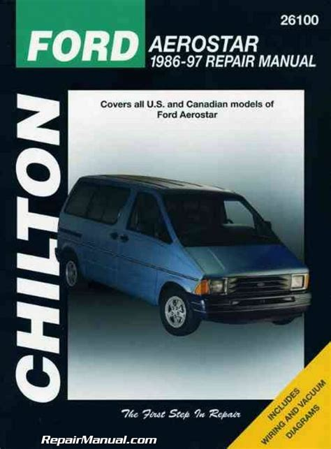free service manuals online 1995 ford aerostar windshield wipe control chilton ford aerostar 1986 1997 repair manual