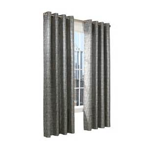 Lowes Kitchen Curtains Legacy 84 In L Grey Curtain Panel Lowe S Canada