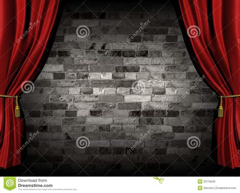 red wall curtains curtains and wall stock illustration image of wall
