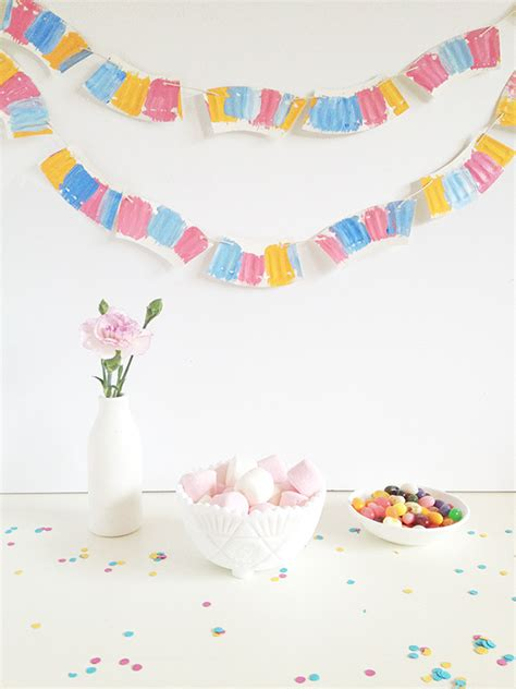 How To Make Paper Garlands - diy paper plate garland make and tell