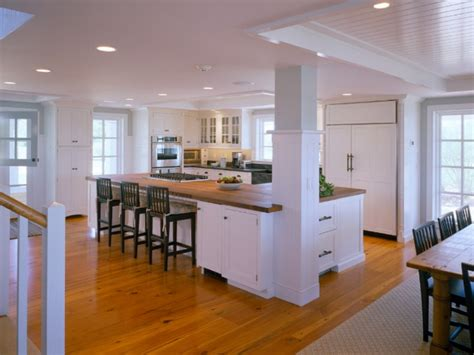 Kitchen Island With Posts | kitchen floor and counter tops with pine cabinets kitchen