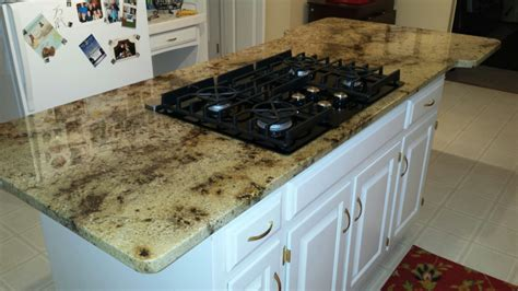 kitchen island granite countertop granite kitchen island countertop with gas glass cooktop