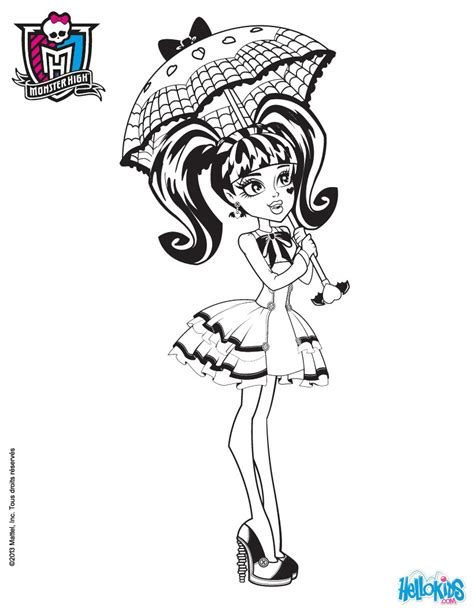draculaura doll coloring pages hellokids com