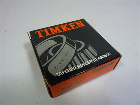 Tapered Bearing Lm29749lm29710 Fbj timken lm29710 tapered roller bearing new ebay