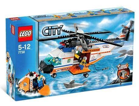 lego boat helicopter lego city coast guard helicopter life raft set 7738 toywiz