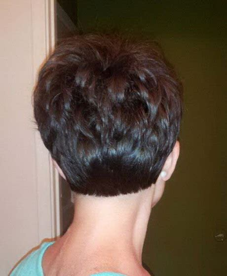 rear view of short hairstyles back view of pixie haircuts