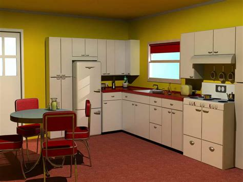 50s Kitchen Cabinets by 1950s Kitchen Style Afreakatheart