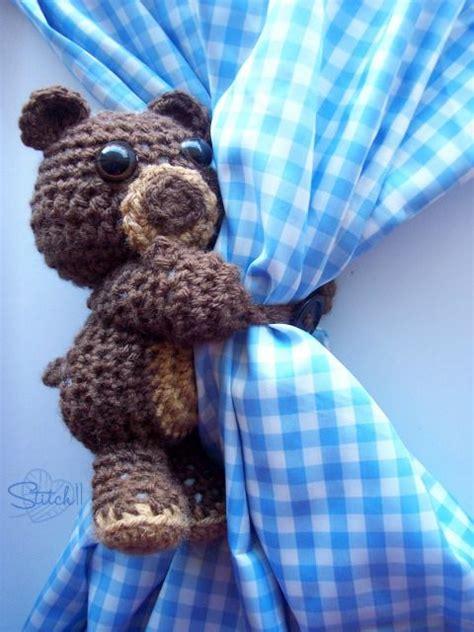 bear curtain tie backs 20 free patterns for crochet curtain tie backs