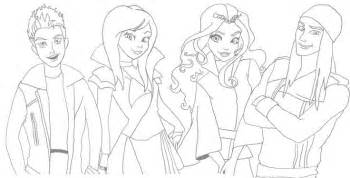 Mal Descendants Wicked World Coloring Pages Sketch Page sketch template