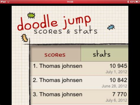 doodle jump cheats to get a high score highest score in quot doodle jump quot world record lasse