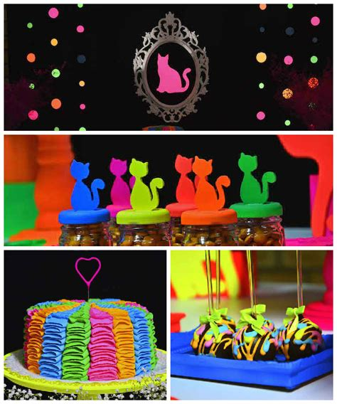 party themes tweens neon cat tween birthday party kara s party ideas