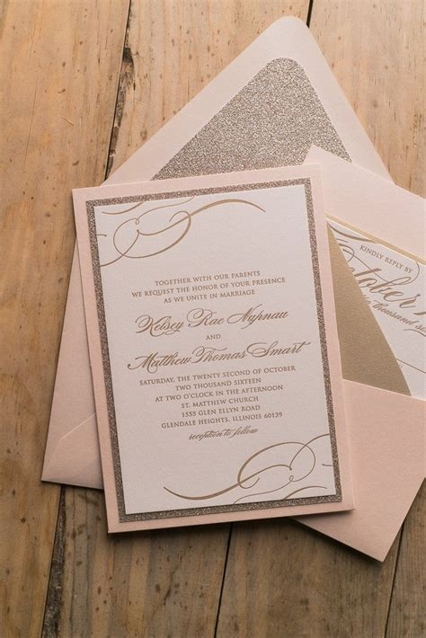 panel pocket wedding invitations theresa suite panel pocket package blush and gold affordable luxury wedding invitations