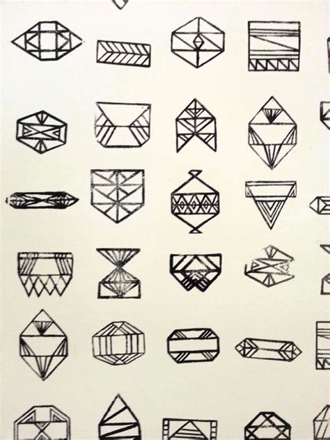 geometric tattoo tiny west end girl geometric shapes art found at byu art museum