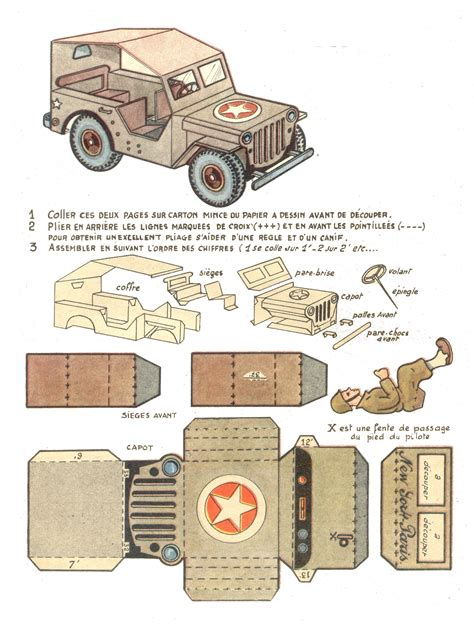 How To Make Models With Paper - another of history jeep papercraft