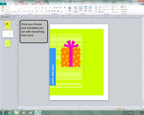 birthday card template publisher 2013 max s ict how to make a birthday card on microsoft