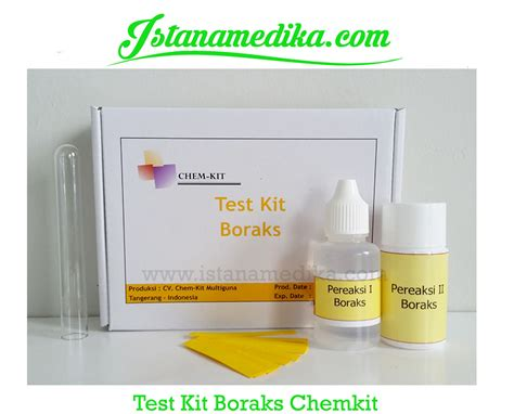 Jual Alat Test Gula Darah Di Medan test kit boraks chemkit istana medika