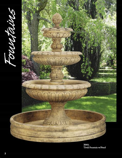cast wall fountain stone tiered fountains courttard cast