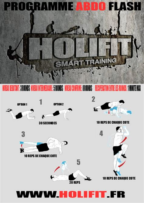 programme fitness abdo flash holifit