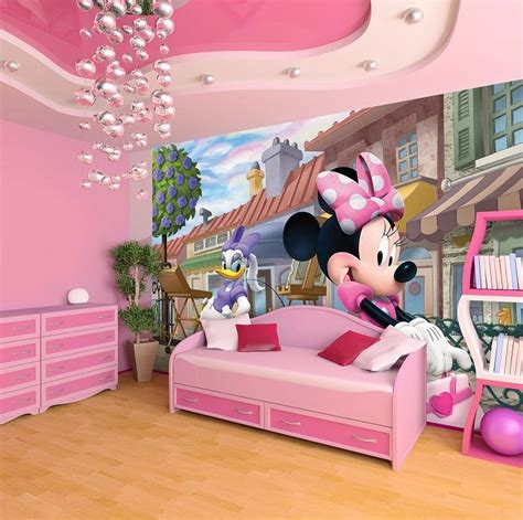 disney wallpaper for bedrooms minnie mouse deasy disney wallpaper for girls room