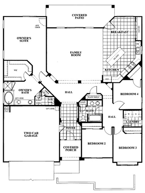 great room house plans one story tangerine terrace floor plan plan 802
