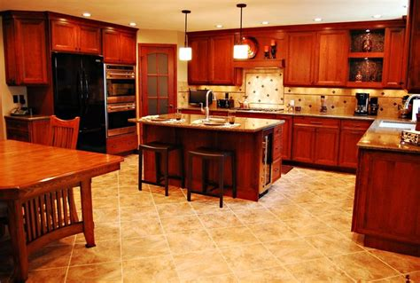 copper appliances kitchen traditional cherry kitchen with copper accents black appliances and mosaic tile kitchens