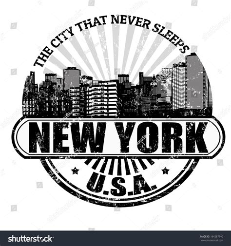 New York Search By Name Grunge Rubber St With The Name Of New York The City That Never Sleeps Written