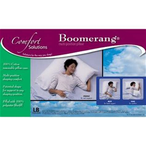 comfort solutions pillow comfort solutions boomerang multi position pillow