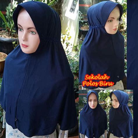Jilbab Pastan Pashmina Instan Polos Kia Grosir Ready kerudung sekolah polos biru sentral grosir jilbab