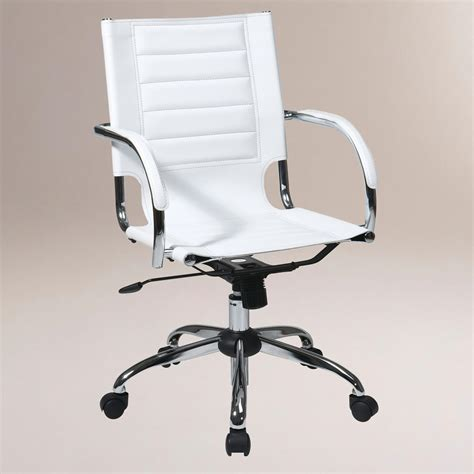 White Office Desk Chair White Grant Office Chair World Market