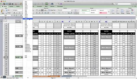 workout template excel pt fitness excel workout template from excel