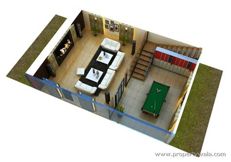 Basement Floor Plans by Supertech Upcountry Sector 17a Greater Noida