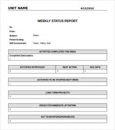 Simple Status Report Template Doc Simple Status Report Template Sample Project