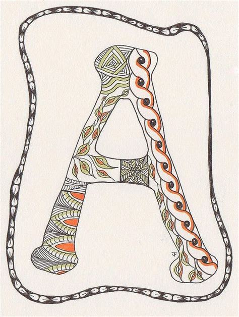 zentangle pattern letters 17 best images about lettering fonts on pinterest fonts