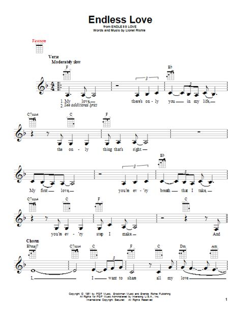 endless love by l richie sheet music on musicaneo endless love sheet music by lionel richie diana ross