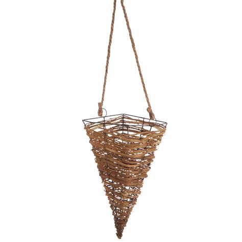 natural woodchip wall basket baskets buckets boxes natural grapevine cone basket baskets buckets boxes