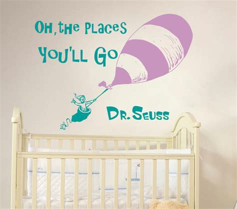 Dr Seuss Nursery Wall Decals Wall Decal Dr Seuss Quote Vinyl Sticker Decals Quotes Decal Oh