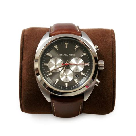 michael kors brown genuine leather india mens