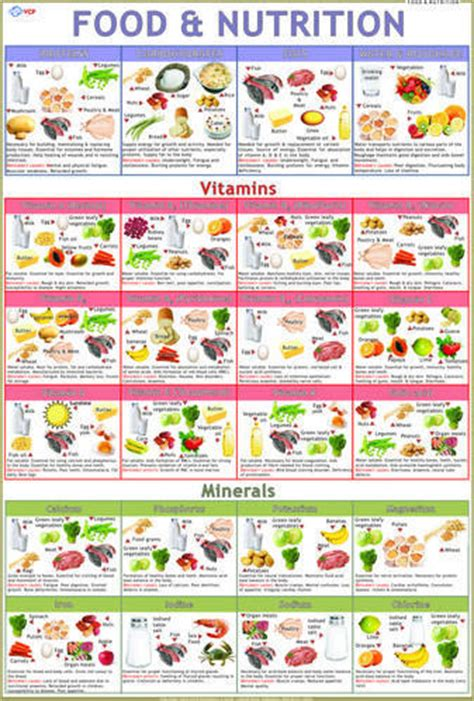 food nutrition food table chart health food food nutrition and kid foods