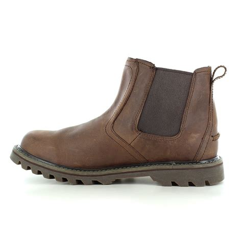 mens slip on boots caterpillar cat stoic p720588 mens slip on leather
