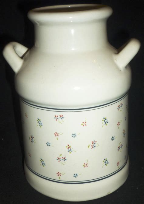 ceramic kitchen utensil holder milk canister
