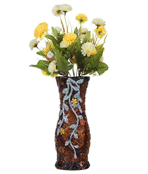 orchard ceramic flower vase with 30 yellow white