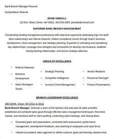 Bank Branch Manager Sle Resume by Free Manager Resume Templates 40 Free Word Pdf Documents Free Premium Templates