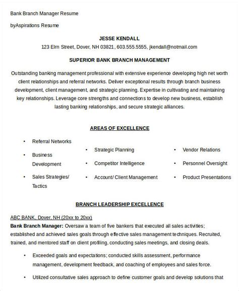 Branch Manager Resume by 40 Free Manager Resume Templates Pdf Doc Free