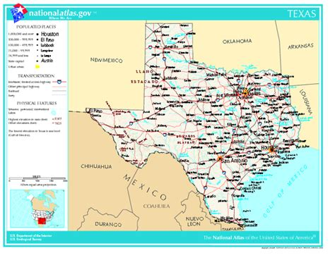 texas usa map texas map texas usa mappery