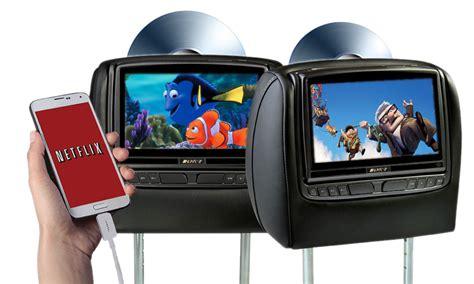 Headrest Bantalan Mobil Headrest Monitor Mobil Tv M Berkualitas advent 8 dual dvd headrest system adc mobile