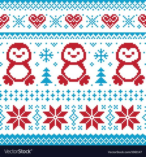 christmas jumper pattern vector free christmas knitted pattern scandynavian sweater vector image