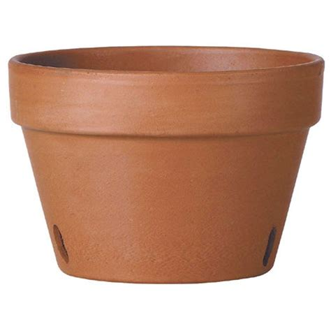 home depot clay pots deroma 8 in terra cotta clay orchid pot t dr 76 21